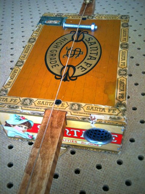 antique santa fe cigar box diddly bow